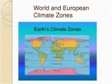 Europe Climate Zones Map Polar Zones