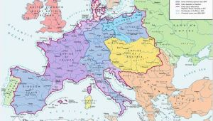 Europe Height Map A Map Of Europe In 1812 at the Height Of the Napoleonic