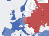 Europe In the Cold War Map Cold War Conservapedia