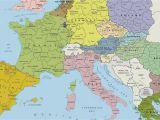 Europe Landmarks Map Map Of Europe Wallpaper 56 Images