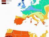Europe Map 2000 Us Vs Europe Annual Hours Of Sunshine Geovisualizations