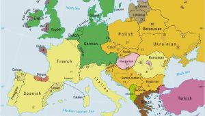 Europe Map Logo Languages Of Europe Classification by Linguistic Family