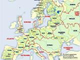 Europe Map Rhine River List Of Rivers Of Europe Wikipedia