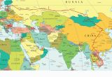 Europe Map with Mountains Eastern Europe and Middle East Partial Europe Middle East