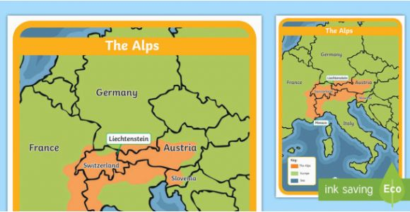 Europe Map with Mountains the Alps Map Habitat Mountain Climate Animals Europe