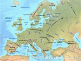 Europe Physical Map Labeled Europe Physical Features Map Casami