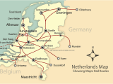 Europe Rail Pass Map Rail and City Map Of the Netherlands Holland Mapping Europe