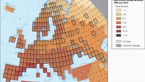 Europe Temperature Map October Global and European Temperature European Environment Agency