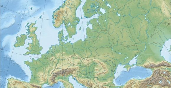 Europe Terrain Map Europe topographic Map Climatejourney org