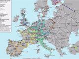 Europe Train Map High Speed Map Of Europe Europe Map Huge Repository Of European