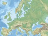 Europe Waterways Map Europe topographic Map Climatejourney org