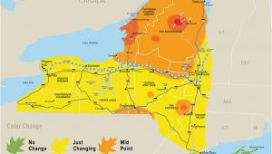 Fall Color Map Michigan Peak Colors Close for Tupper Lake Catskills Alexandria Bay the