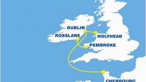 Ferry Routes to Ireland Map Ferry to France From Ireland Cheap Ferry to France