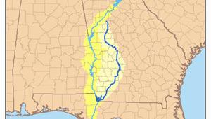 Flint River Georgia Map Lake Seminole Revolvy