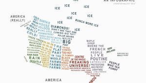 Foot Mapping Canada Canada A Map In Words Just because Canadian Stereotypes