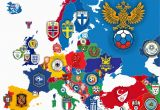 Football Teams In England Map Logos Of National Football Teams In Europe Surrounding