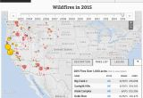 Forest Fire Map oregon Wildfires In the United States Data Visualization by Ecowest org