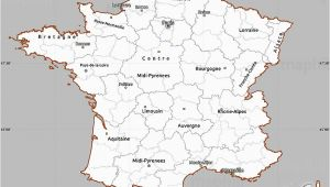 France Districts Map Gray Simple Map Of France Cropped Outside