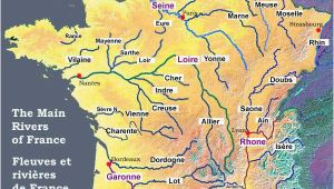 France Map with Rivers and Mountains Map Of the Rivers In France About France Com