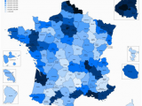 France Population Density Map List Of French Departments by Population Wikipedia