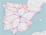 France Rail Network Map Rail Map Of Spain and Portugal
