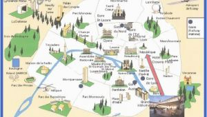 France Sightseeing Map Graphic tourist Map Name Landmarks In Paris Map tourist Map Of Nice