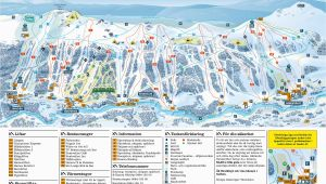 France Ski Resort Map Trail Map Tanndalen