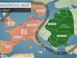 France Temperature Map Intense Heat Wave to Bake Western Europe as Wildfires Rage