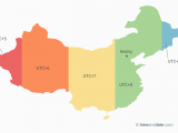 France Time Zones Map Only 1 Time Zone In China