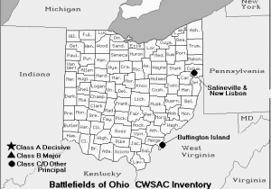 Fredericksburg Ohio Map Ohio Civil War Battles 1861 1877 the Civil War Reconstruction