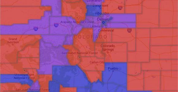 Garfield County Colorado Map Map Colorado Voter Party Affiliation by County
