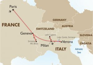 Geneva Map Europe European Vistas European tour Packages Goway Travel