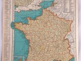 Geographic Map Of France 1937 Map Of France Antique Map Of France 81 Yr Old