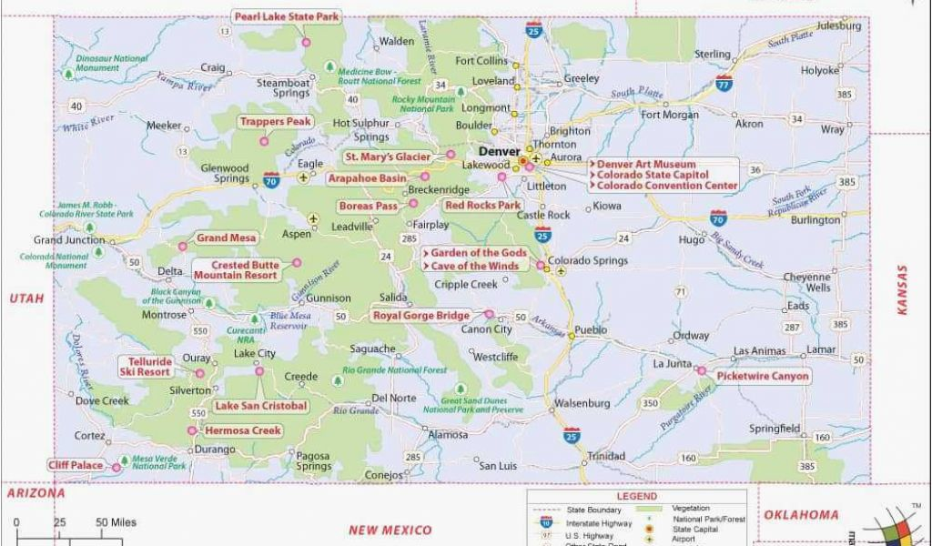 Geographical Map Of Colorado Colorado Lakes Map Elegant Geography ...