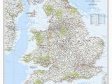 Geographical Map Of England England and Wales Classic Wall Map 36 X 30 Home for