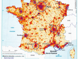 Geographical Map Of France France Population Density and Cities by Cecile Metayer Map France