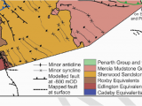 Geological Map Of Alabama Concealed Faulting Minor Folding and Bedrock Geology Derived From