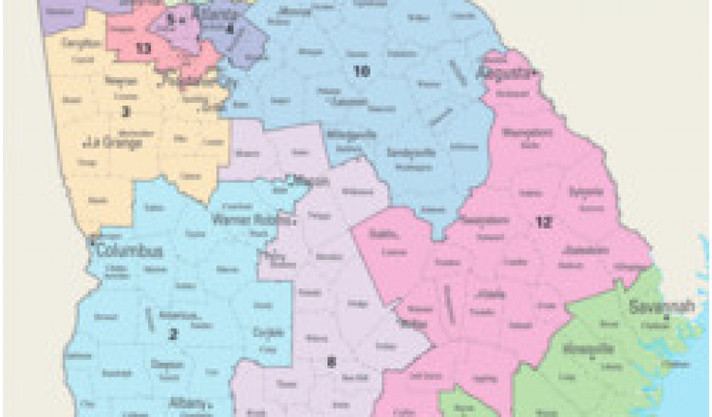 Map Of Georgia Voting Districts.Georgia Congressional Districts Map Georgia S Congressional