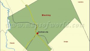 Georgia Map by County and City Map Of Bleckley County In Georgia Usa County Map Pinterest