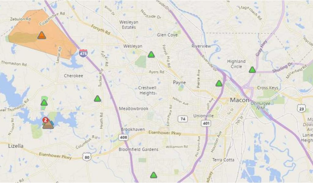 Georgia Power Outage Map atlanta Cell Phone Outage Map Lovely Ed ...