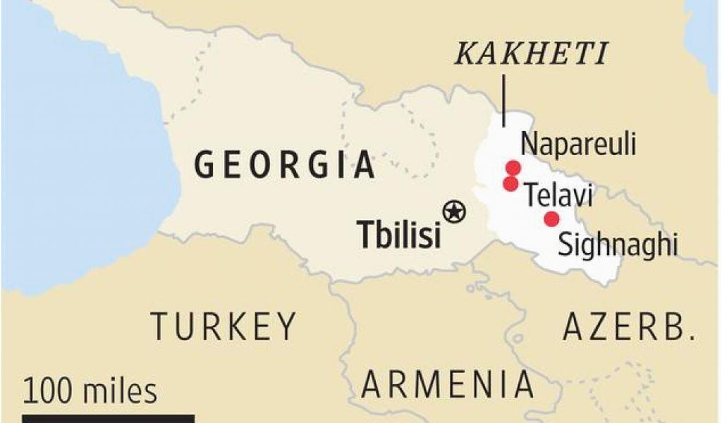 Map Of Kakheti Georgia.Georgia Wine Highway Map Is The Country Of Georgia The Next Great
