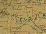 Ghost towns Texas Map Gregg County Texas History town List Vintage Maps More