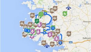 Gold In Ireland Map Map Of Connemara Sights Ireland Ireland Map Connemara Ireland