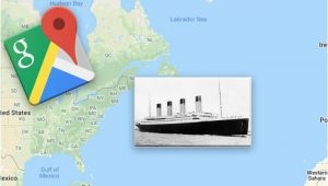 Google Maps for Europe Google Maps Exact Location Of the Titanic Wreckage Revealed