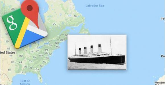 Google Maps for Europe Google Maps Exact Location Of the Titanic Wreckage Revealed
