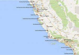 Google Maps Santa Ana California California Missions Map where to Find them
