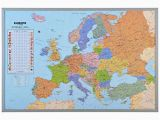 Graphic Maps Europe Answers Pinboard World Map or Map Of Europe 90 X 60 Cm Includes 12 Flag Pins Europe