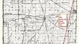Greenville Ohio Map 1795 Greenville Treaty Line Map Randolph County Historical society