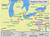 Gwinn Michigan Map A Map Showing A Summary Of Action During Pontiac S War French