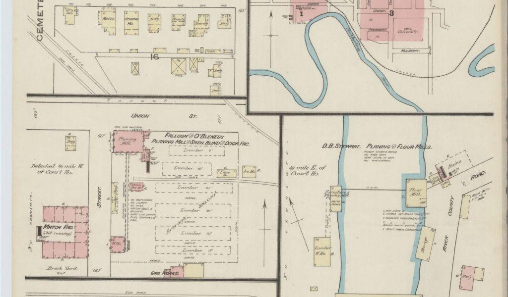 Hardin County Ohio Map Sanborn Maps 1880 to 1889 Ohio Library Of